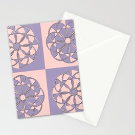 Circular Chequers Stationery Cards