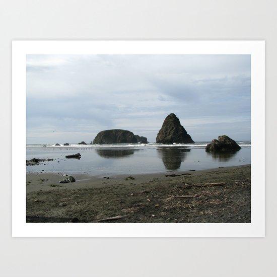 Stormy Coast I Art Print