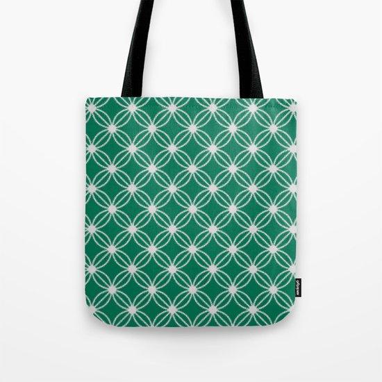 Abstract Circle Dots Green Tote Bag
