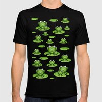 Froggies!  Black Mens Fitted Tee MEDIUM