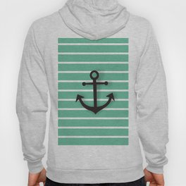 Duck egg blue Anchor Art print Hoody