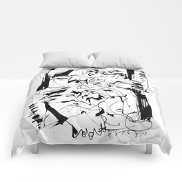 Ups and Downs - b&w Comforters