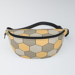 Honeycombs op art beige Fanny Pack