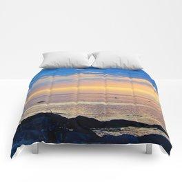 Sparkling Sunset Seascape Comforters