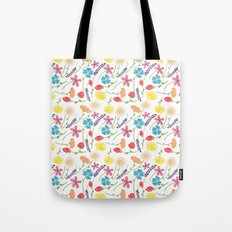 The Little Flowers  Print Tote Bag