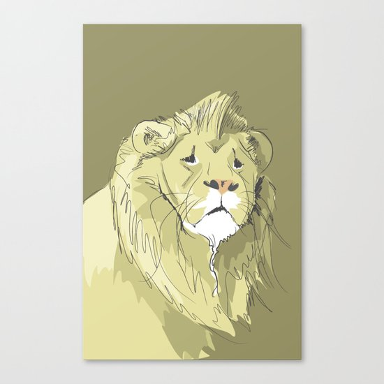 The Sad Lion Canvas Print