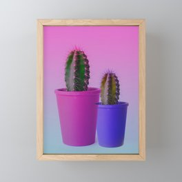 THE BOTANICAL CACTUS SHOW Framed Mini Art Print