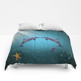 dolphins love Comforters