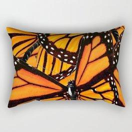 MONARCH BUTTERFLIES WING COLLAGE PATTERN  1 Rectangular Pillow