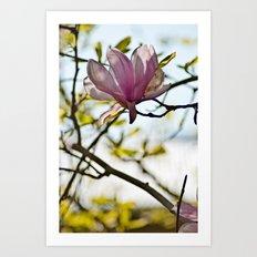 Flower and Tree Art Print