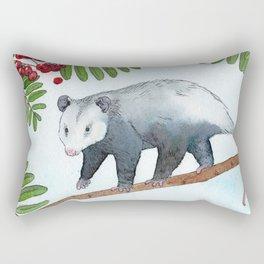 Opossum in a Rowan Tree Rectangular Pillow