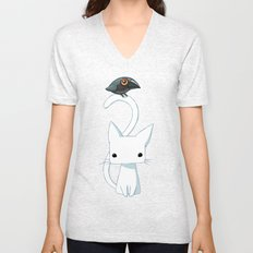 Cat and Raven Unisex V-Neck