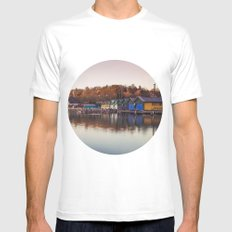 Dawn at the lake MEDIUM White Mens Fitted Tee