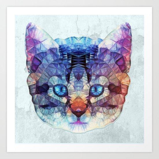 abstract kitten Art Print