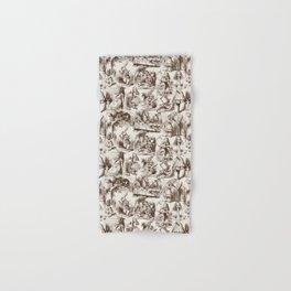 Alice in Wonderland | Toile de Jouy | Brown and Beige Hand & Bath Towel