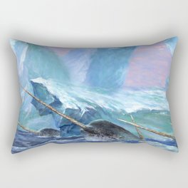 Narwhals at Play Rectangular Pillow