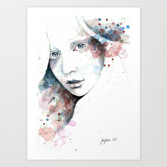 Unfinished Sympathy, watercolor & pencil study Art Print