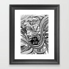 Into The Wild (b&w version) Framed Art Print