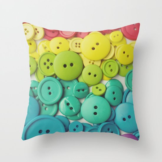 Cute as a button Throw Pillow