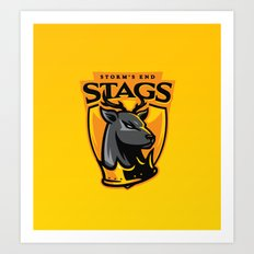 Storm' End Stags Art Print
