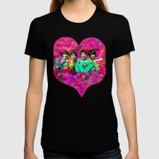 Sgt. Pepper's Lonely Hearts Club Band Womens Fitted Tee Black LARGE