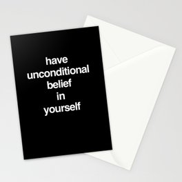 Unconditional Belief Stationery Cards