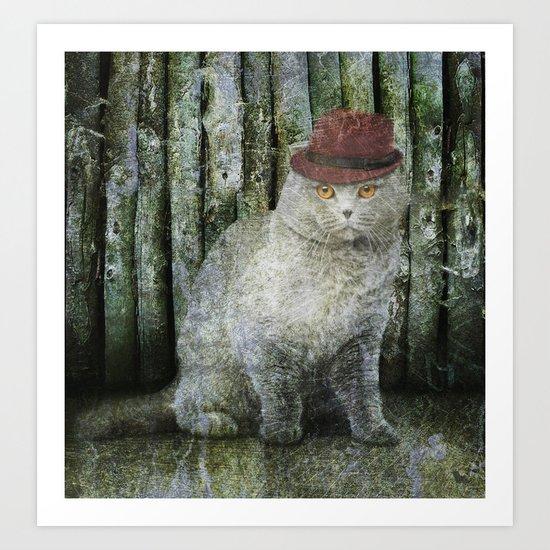 Detective Cat Art Print