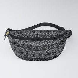 Black and White Geometric Aztec Tribal Pattern Fanny Pack