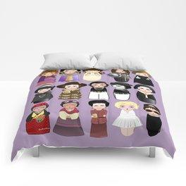 Kokeshis Women in the History Comforters