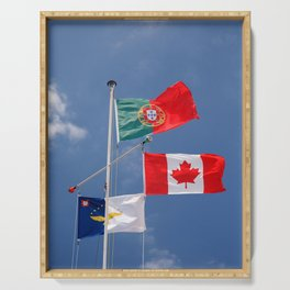 Flags Serving Tray