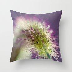 purple with bokeh Throw Pillow