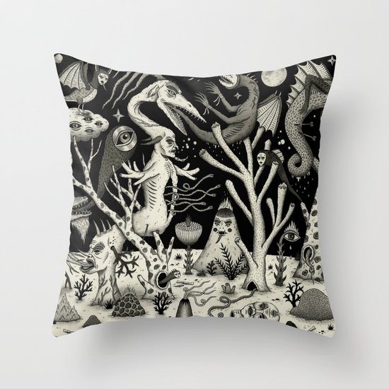 Out of the Thicket Throw Pillow