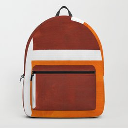 Burnt Sienna Yellow Ochre Rothko Minimalist Mid Century Abstract Color Field Squares Backpack