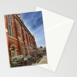First Lutheran Church Side View in Moline, Illinois Stationery Cards
