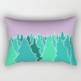 Forest Under a Purple Sky Rectangular Pillow