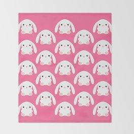 Mei the Strawberry Rabbit Throw Blanket