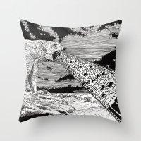 polar bear Throw Pillows featuring Polar Bear by Meredith Mackworth-Praed