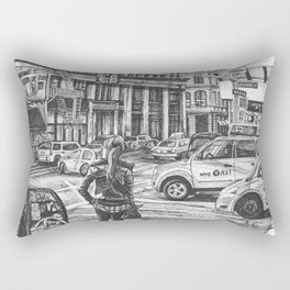 New York Taxis Rectangular Pillow