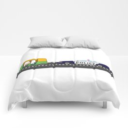 High Speed Chase Comforters