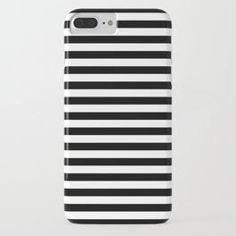 Stripe Black & White Vertical iPhone Case