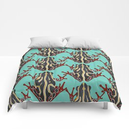 congo tree frog mint Comforters