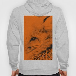 red fox digital acryl painting acrob Hoody