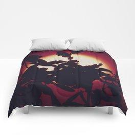 Bird of Paradise Moon Comforters