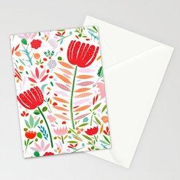 folk floral Stationery Cards