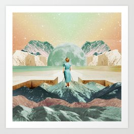 Crossing to another era Art Print