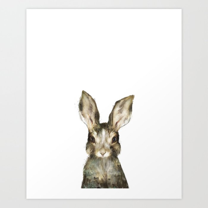 Sunday's Society6 | Little baby rabbit art print