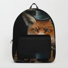 Victorian Fox In Top Hat Backpack