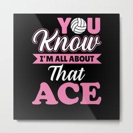 Volleyball Ace Sport Serve Metal Print