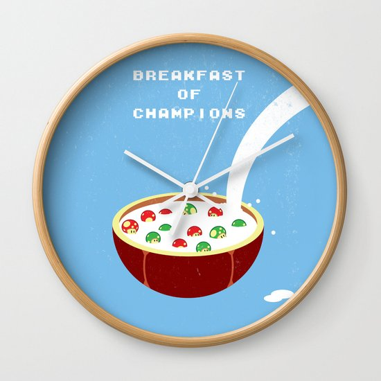 Breakfast of Champions Wall Clock