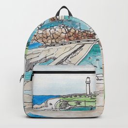 Wollongong Beach Landscape Backpack